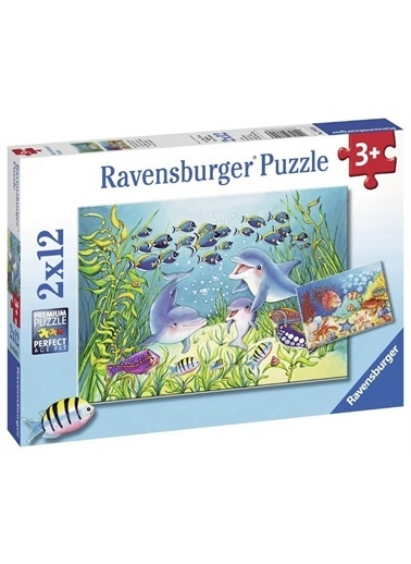 Ravensburger 2x12 Parça Puzzle Sea Bed 076253 Renkli